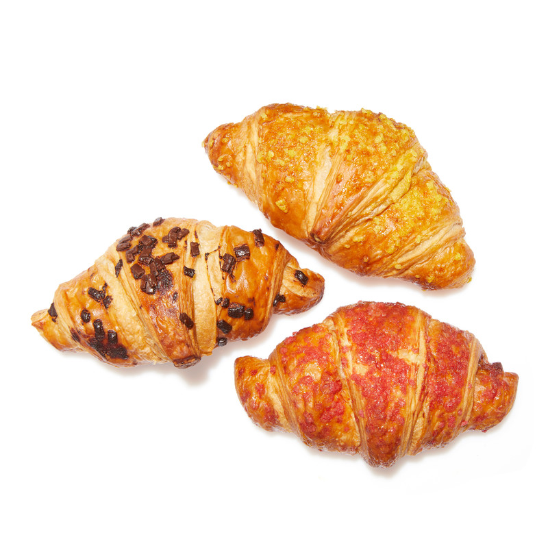 Mix Mini Croissants (Raspberry, Praliné, Apricot)