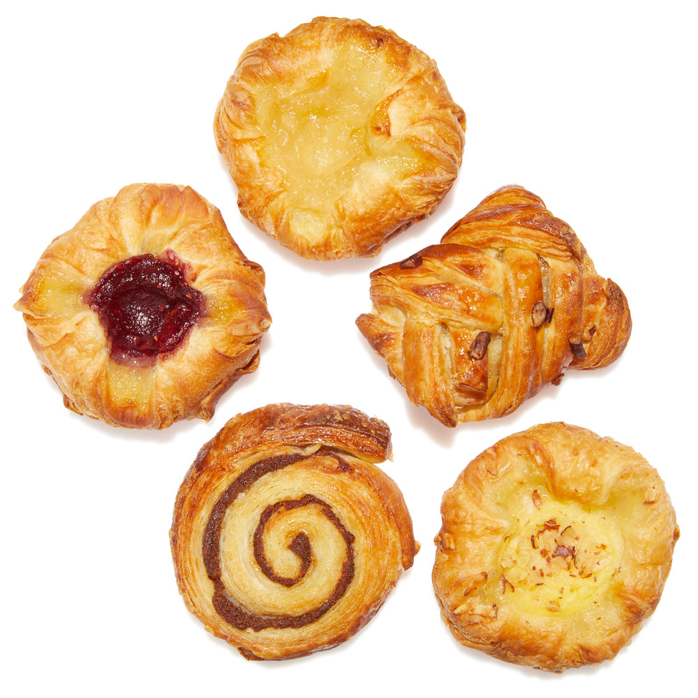 Mix Assorted Danish (Custard Cream Crown, Apple Crown, Raspberry Crown, Maple Pecan Braid, Cinnamon Swirl)